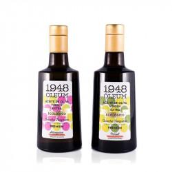 1948 Óleum AOVE ECO Pack duo Arbequina + Picual 500 ml
