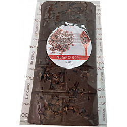 CHOCOLATE NEGRO Y NIBS