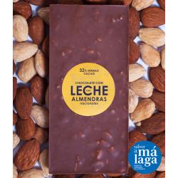 Chocolate con Leche y Almendras Fritas con Sal