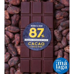 Chocolate 87% Cacao Origen Cusco, Perú