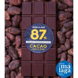 Chocolate 87% Cacao Origen Cusco, Perú