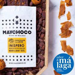 Chocolate Dark Milk 55% Cacao Bean to Bar con Nísperos