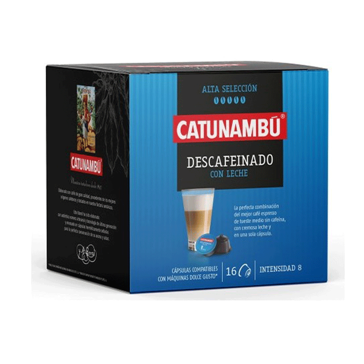 Café Descafeinado con Leche 16 cáps.